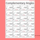 Complimentary Angles Worksheet Black and White