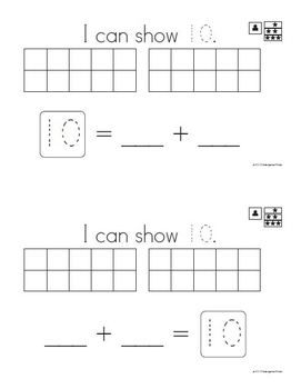 Composing & Decomposing 11-19 Cards for Magnetic Drawing Boards