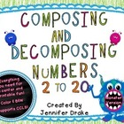 Composing & Decomposing Numbers 2 to 20 *Monster Theme* Ce