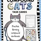 Compound Cats Task Cards (Compound Sentences)
