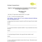 Compound Interest Word Supplemental Learning Module