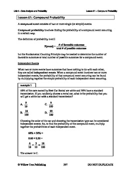 Compound Probability (Lesson 61 of 61)