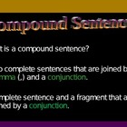 Compound Sentences: Rules and Student Practice