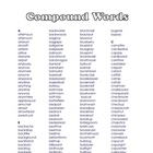 Compound Word List - Over 2,000 Words!