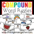 Compound Word Puzzles For Kindergarten