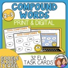 Compound Word Task Cards - Fun and Challenging!