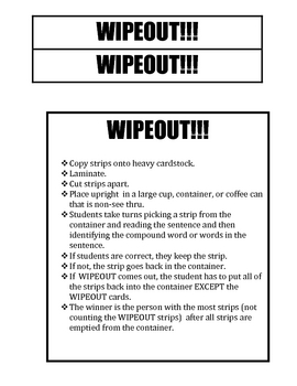 Compound Word Wipeout