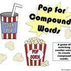 Compound Words File Folder Game (Pop for Compound Words)