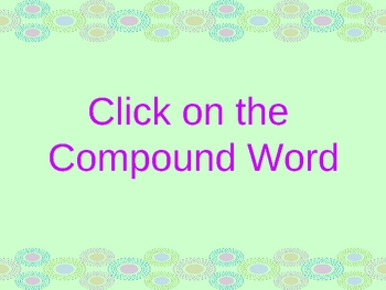 Compound Words Review Power Point Presentation