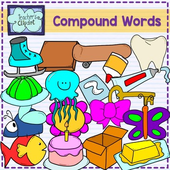 Compound words clipart