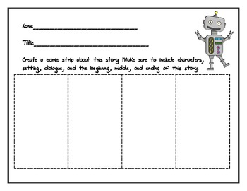 Comprehension Comic Strip