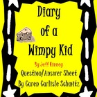Comprehension Questions: Diary of a Wimpy Kid #1
