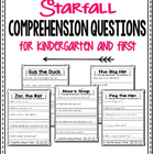Comprehension Questions for K and 1st Grade (Common Core)