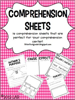 Comprehension Sheets {16}