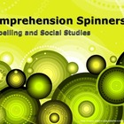 Comprehension Spinners for Spelling and Social Studies