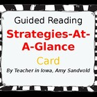 Comprehension Strategies At-A-Glance Card