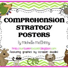 Comprehension Strategy Posters {Chevron Stripes}