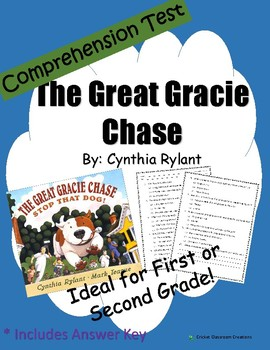 Comprehension Test: The Great Gracie Chase - First or Seco