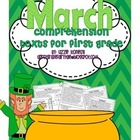 Comprehension Texts for First Grade- March