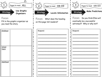 Comprehension Tri-Folds - Story Town - Themes  1 and 2