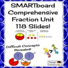 Comprehensive Smartboard Fraction Lessons Unit, 118 Slides