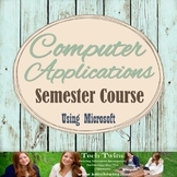 Computer Applications Daily Lesson Plans with Materials fo
