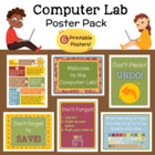 Computer Lab Poster Pack--6 Fun Printable Posters