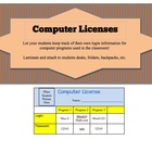 Computer License - Keep track of student logins for comput
