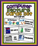 Computer Picture Cards Set