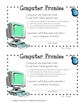 Computer Promise Agreement