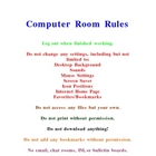 Computer Room Rules