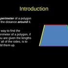 Concept of Perimeter and Finding a Missing Side