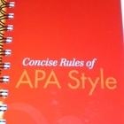 Concise Rules of APA Style 6th Edition