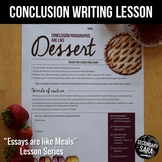Conclusions are like Dessert: a FREE writing lesson