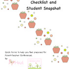Conference Checklist and Student Snapshot