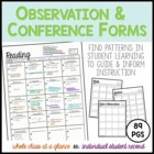 Conference and Daily Observation Forms: All Subjects