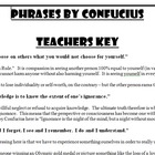 Confucius:  Famous Quotes Activity