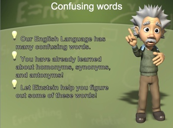 Confusing Words interactive Power Point and Activity for Primary