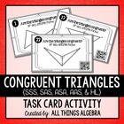 Congruent Triangles Task Cards {SSS, SAS, ASA, AAS, & HL}