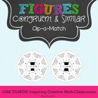 Congruent and Similar Figures Clip-a-Match Game