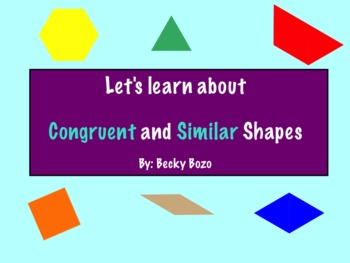 Congruent and Similar Shapes Smart board lesson