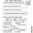 Conjuctions - Worksheets