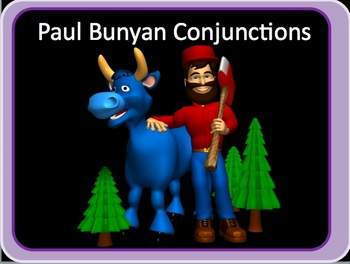 Conjunctions Powerpoint lesson and interactive quiz Paul B