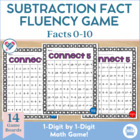Connect Five! 1 - 1 Digit Subtraction Fact Fluency Game 0-