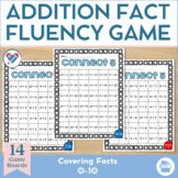 Connect Five! 1 + 1 Digit Addition Fact Fluency Game 0-10!!