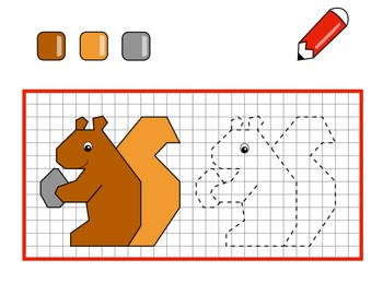 Connect and color graphing animals activity