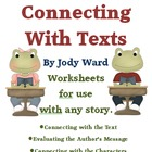 Connecting with Texts Worksheets for any Story C2C Core