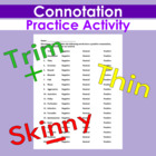 Connotation Practice Exercise