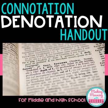 Connotation and Denotation Activity