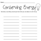 Conserving Energy Worksheet